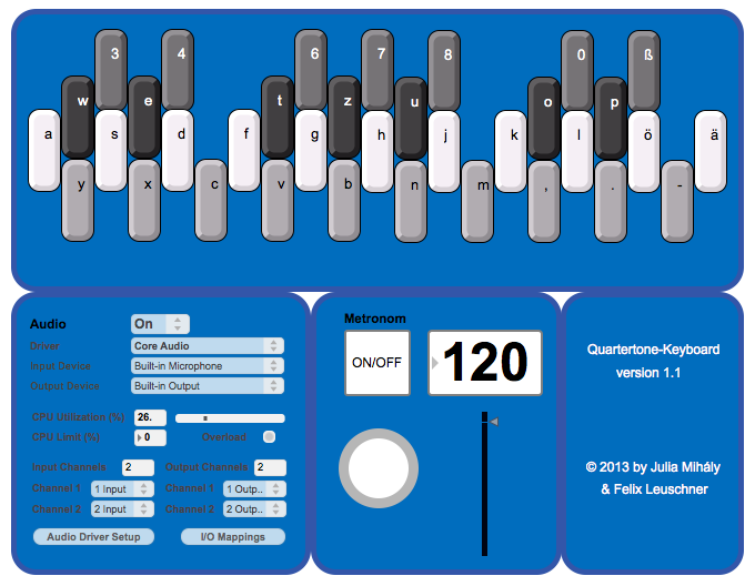 viertelton keyboard